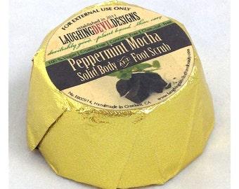 Peppermint Mocha Brown Solid Sugar Scrub (vegan friendly).