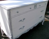Reserved for Laura....White Vintage Dresser - Painted Furniture - Shabby Chic - #2