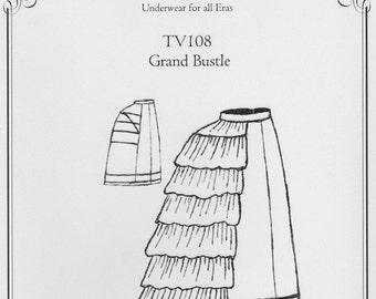 TV108 - Truly Victorian #108, 1869-1875 Grand Bustle Sewing Pattern