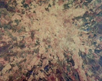 Encaustic #10 - Organic Gilded Abstract Encaustic Wax Painting