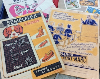Vintage French School Children's Book Protectors