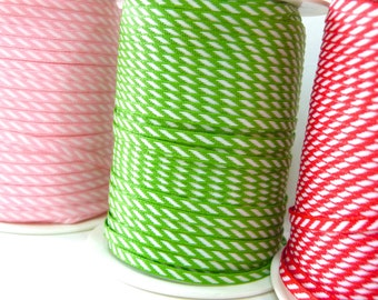 4mm wide Diagonal Stripe Ribbon - choose your colour