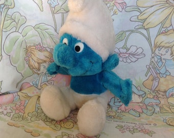 1978 Stuffed Smurf Toy Peyo Schleich