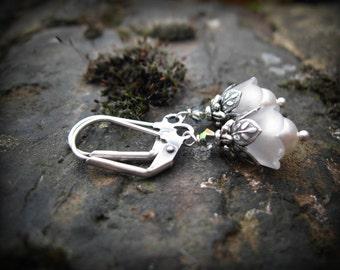Snowdrop Fairy Flower Earrings