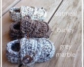 Crocheted Baby Boy Shoes, Loafer Booties, Newborn Photo Prop,  Shower Gift, 0-3 3-6 6-9 9-12 Months, grey, tan, brown, church shoes,  loafer
