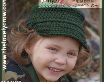 Military Hat Crochet Pattern Little ComBrat Cap