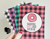 Buffalo Check Valentine - You Pick - ONE CARD with White Envelope - Perfect for romance, friendship, children, family!