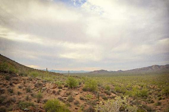 Arizona Southwest Desert Photography Print 11x14 Fine Art Saguaro Mountain Winter Landscape Photography Print.