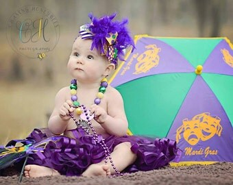 Over The Top Mardi Gras Bow -- Mardi Gras Princess -- purple, green and gold Mardi Gras bow