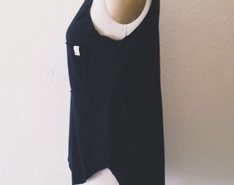 Women's Tail Tank with pocket - Black