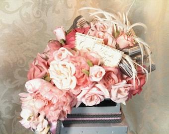 Wedding Card Box Gray and Pink, Elegant, Sophisticated Wedding Card Holder, Reception Card Holder, Custom Made, Unique, Secure, Elegant