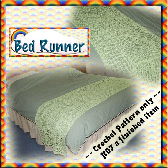 PDF Crochet Pattern Bed Runner / Scarf