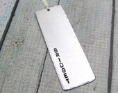Personalized Bookmark (qty 1) Hand Stamped Teacher Gift, Reader Gift Stamped Metal Bookmark - Hand Stamped Personalized Accessories