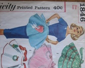 Simplicity Pattern 1846 Misses' Set of One-Yard Aprons (Transfer Included)   1956