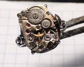 Steampunk Ring Vintage Watch Gears