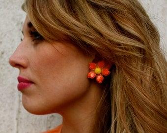 Vintage 70's Flower Earrings