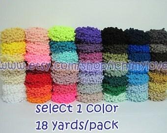1 Pack Large Pom Pom Trim (pom size 1.2 cm), Pom Pom Trim, Trim set, Wholesale trim, Pom Pom Fringe, Rainbow Trim, Big pom pom Trim, Pom