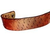 Monogram Bracelet - Custom Bracelet - Leather Cuff - Bracelet for Mom - Distressed Leather - Leather Bracelet Men - Gift Bracelet Cuff