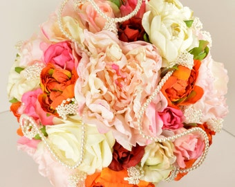 Wedding Bouquet ..... Romantic Bouquet with a Burst of Color !!