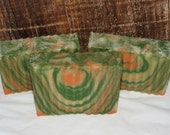 Orange Pine Yogurt and Honey Luxury Cold Process Rustic Soap with Mango Butter