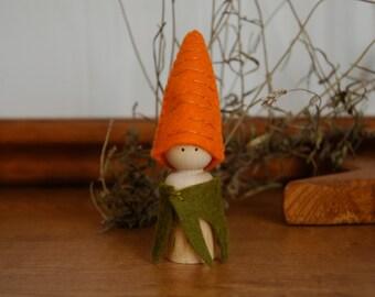 Carrot peg doll