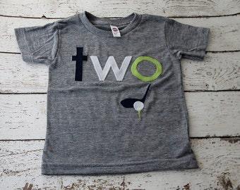 Golf Birthday shirt, golf party, golf invitation,  boy's tshirt Organic Blend Tee, golf club golf ball golf birthday custom