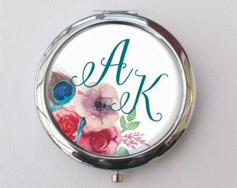 Purse Mirror, Custom Bridesmaid Gift, Personalized Compact Mirror, Bridesmaid Compact
