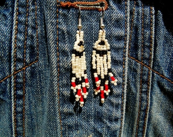 Indian made seed bead earrings free shipping