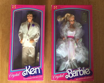 Crystal Barbie and Ken Doll Set - Never Opened