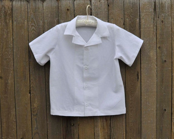 Boys White Linen Beach Shirt Ring Bearer Clothes Beach