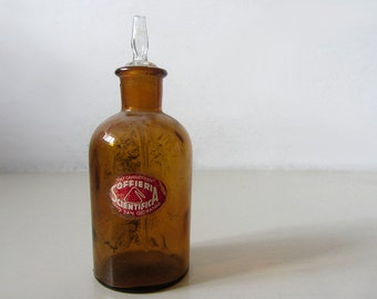 Vintage Glass Bottle With Dropper