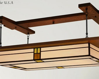 Large Praire Style Lighting Fixture - Chandelier