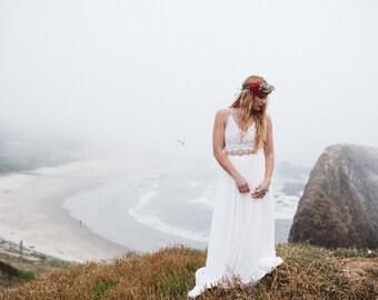 CHELSEA BEIGE - Beaded Bridal Sash, Wedding Belt