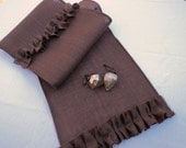 Chocolate Brown Burlap Table Runner Rustic Chic Home Decor