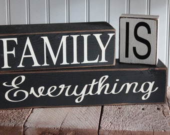 Wood Blocks - Family Is Everything