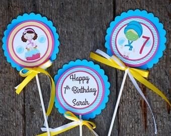Spa Birthday Party Centerpiece Set/ Spa Theme/ Spa Banner