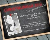 CHRISTMAS and HANUKKAH:  CHRISTMUKKAH Party Invitation Digital printable file