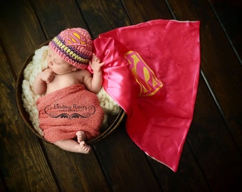 Kids & Baby Accessories Cape with superhero Logo of your Choice with matching mask Bday Gift Shower Gift Party Favor
