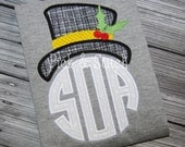 Made for Monogram Snowman Hat Frosty Christmas Applique Design Machine Embroidery INSTANT DOWNLOAD