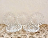 Glass coasters vintage wine coasters small glass plates