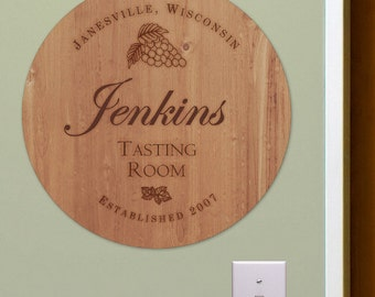 Personalized Wine Room Wall Sign -gfyU804479