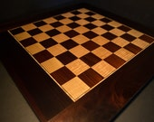 Handcrafted Cambia & Tiger Maple Standard Sized Competition Chess Board Checkers Board Hardwood Chess Board Hardwood Checkers Board
