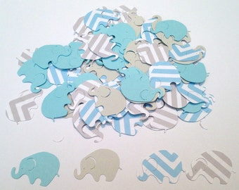 elephant baby shower blue chevron elephant blue gray elephant confetti elephant cut out elephant theme baby