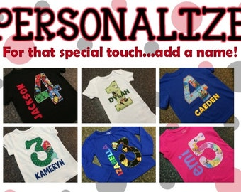PERSONALIZE - Add a Name
