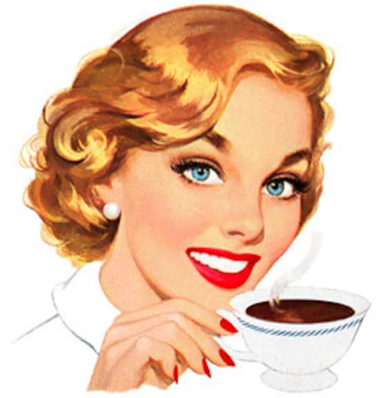 Image result for images cartoon mother drinking coffee