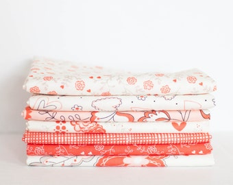 Table for Two from Moda Fabric Bundle -  Half Yard Bundle - 7 half yard pieces (B303)