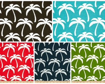 OUTDOOR Blue Brown Green Red Palm Tree Pillow Cover Palm Pillow Cover Deck Porch Pillow 18x18