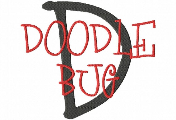 "JUMBO Doodle Bug Machine Embroidery Font - Sizes 5"",6"",7"" and 5x7 Hoop - BUY 2 get 1 FREE"