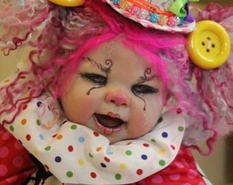 Custom clown baby by The Twisted Bean Stalk Nursery
