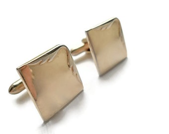 Vintage Swank Gold Toned Cuff Links